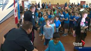 Young Edmontonians thank police