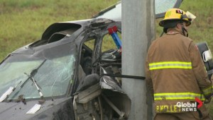 Car crash on Stoney Trail