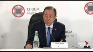 Ban Ki-moon praises Commonwealth heads of state meeting as important prelude to climate change summit