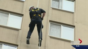 Saskatoon super heroes leap from 22 stories for a good cause