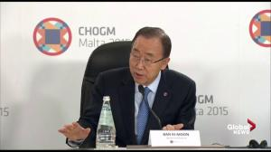 Ban Ki-moon says science has made it 'plainly clear' that action is needed on climate change