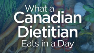 What a top Canadian registered dietitian eats in a day