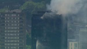 RAW: London apartment fire continues to burn hours after blaze began
