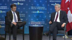 Harper talks about the necessity of free trade agreements