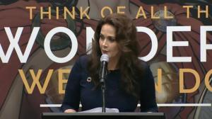 Wonder Woman actress Lynda Carter speaks at United Nations