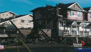 Fire destroys Edmonton triplex