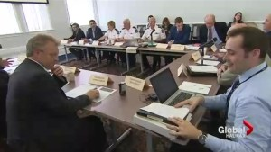 Police commissioners meeting