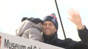 New England Patriots celebrate Super Bowl victory