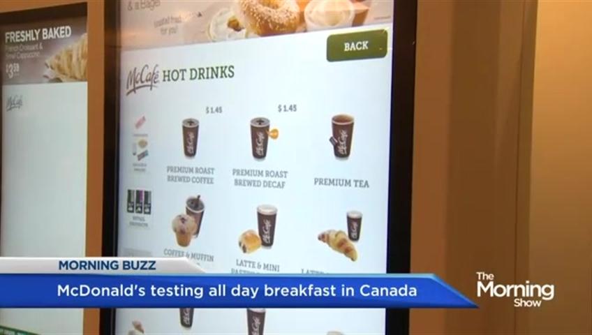 McDonald's Canada testing all day breakfast menu