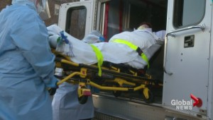 Ebola drill at the Regina General Hospital