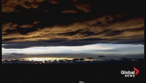 Incredible Calgary sunset timelapse