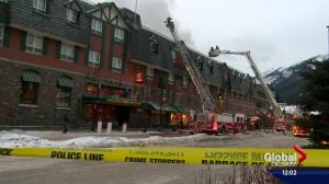 Fire at historic Mount Royal Hotel in Banff under control