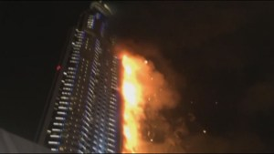 Cooling procedures underway for massive Dubai building fire