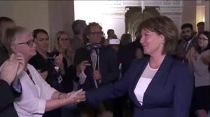 Touching moment as Christy Clark leaves B.C. Legislature