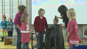 Kelowna girl shaves head for cancer