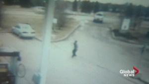 Surveillance video of Sherwood Park gas station injury