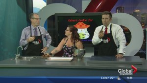 In the Global Edmonton kitchen with Kaboo's Cookie Jar