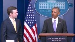Obama surprises White House press secretary at last press briefing
