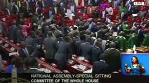 Chaos, fights erupt inside and outside Kenyan parliament
