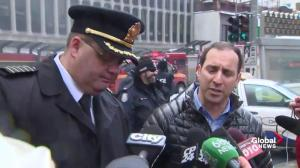 Josh Matlow comments on massive fire at Yonge and St. Clair