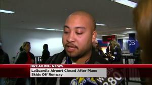 Passengers on-board Delta plane that skidded off runway react