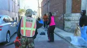 Residents begin slow process of cleaning Baltimore streets