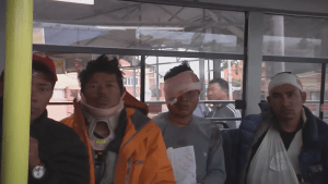 Injured Everest climbers return to Kathmandu