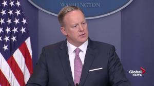 White House press secretary 'demoralized' by tone of media's coverage of Donald Trump