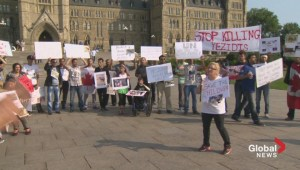 Anti-ISIS protest held on Parliament Hill