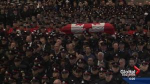 Regimental funeral for Const. Woodall