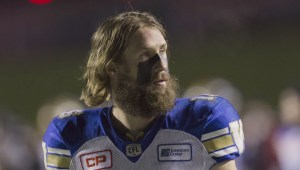 Winnipeg Blue Bombers' Taylor Loffler turning heads with old school hairstyle