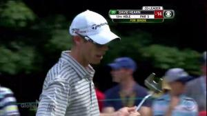 David Hearn makes great putt for birdie to reclaim the lead at the Canadian Open