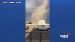 Giant dust devil in Airdrie