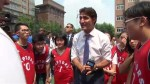 Trudeau meets former Chinese NBA star, students in Shanghai