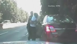 WATCH: Dramatic video shows NYPD officer save choking victim on highway