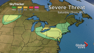 Toronto, southern Ontario to see warmer temperatures, thunderstorms Saturday
