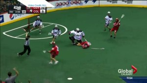 Controversial hit against Calgary Roughneck