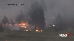 YouTube video captures Canal Flats wildfire
