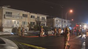 Suspicious fire at apartment complex in Saint-Leonard