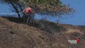 Firefighting efforts contain Kaleden wildfire