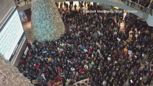 Police brutality protesters swarm Mall of America