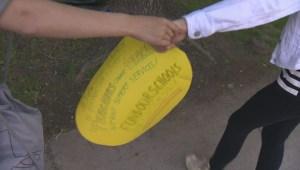 Willingdon School in NDG protests Quebec austerity cuts