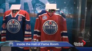 Go inside the Hall of Fame room at Rogers Place