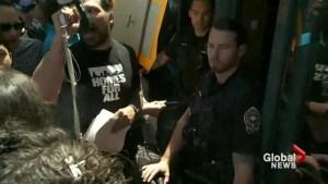 Tent City protestors disrupt housing meeting
