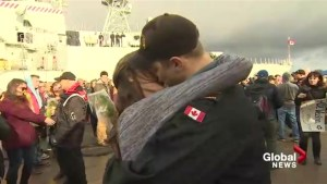 Heartfelt reunions as HMCS Charlottetown returns to Halifax