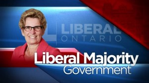 Ontario Election: Projected Liberal majority government