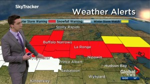 Winter storm warning for parts of Saskatchewan Easter weekend