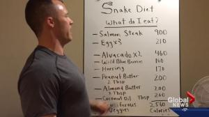 Edmonton man suggests 'snake diet' will help people lose weight