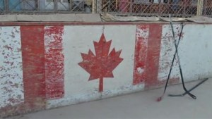 Kandahar ball hockey rink comes down