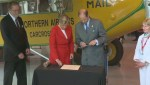 Royal couple tours the Royal Aviation Museum of Western Canada